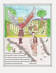 adam and eve coloring pages with scripture drawn2bcreative