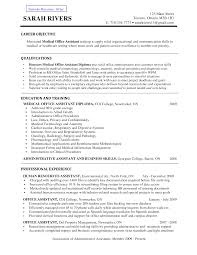 Administrative Resume Objective Examples by Office Medical Office Resume Samples