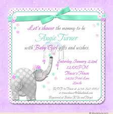 baby girl invitations elephant baby shower invitation design graphics