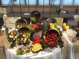 fruit table display ideas rustic fruit and vegetable display pinteres