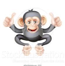 vector illustration of a cartoon black and tan happy baby