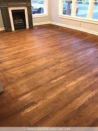 my newly refinished red oak hardwood floors