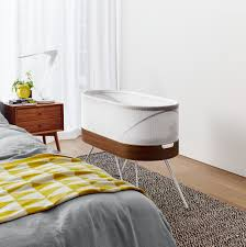 Baby Bed Attached To Parents Bed Yves Behar U0027s Robotic Snoo Crib Rocks Babies To Sleep