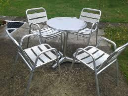 Aluminium Bistro Chairs Elegant Aluminium Bistro Table And Chairs With Best Of Aluminium