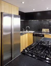 black glass backsplash kitchen black glass backsplash kitchen contemporary with accent wall black