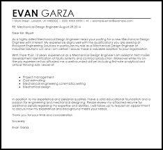 lovely cover letter for mechanical design engineer 79 on best