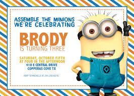 minions birthday invitation cloveranddot com