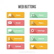 buttons designen colors buttons for web in a flat design vector premium