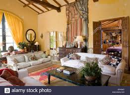 spectacular living room in spanish painting with additional
