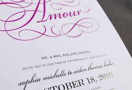 wedding invitations printing printed wedding invitations in raised ink