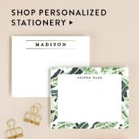 personalized stationary personalized stationery thank you cards minted