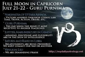 vedic astrology moon in capricorn guru purnima daily