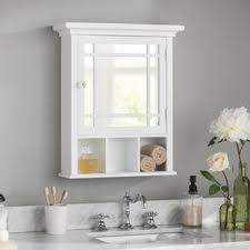 white bathroom mirror cabinet medicine cabinets you ll love