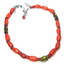 coral bead necklace images Asian trade beads chinese indonesia naga thai tagged quot padre jpg