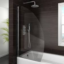 800mm pivot bath screen easy marina curved bath screen 800mm wide at plumbing co uk