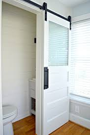 powder room decorating ideas for your bathroom camer design frosted glass bathroom barn door from epic fail to success