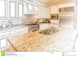 Kitchen Design Free Custom Kitchen Design Drawing And Gradated Photo Combination Stock