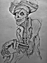zombie pirate tattoo design by unfortunatevent on deviantart