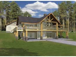 eplans a frame house plan u2013 hillside haven with two levels of