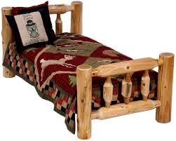 log toddler u0027s bed children u0027s log bed rustic kids furniture