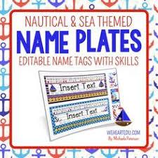 student name tags for desks editable name tags name plates chevron