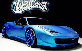 Ferrari 458 Light Blue - justin bieber u0027s ferrari 458 italia gets liberty walk
