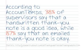 should you send a handwritten thank you note after a job interview