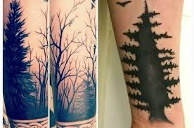 simple and cool black silhouette forest tree golfian com