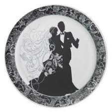 and groom plates and groom bridal shower party 9 inch paper plate bridal