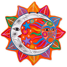 mexican sun and moon wall art unique mexican sun and moon wall
