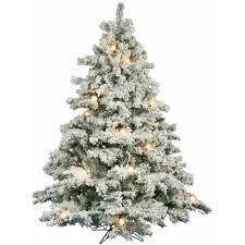 flocked utica 7 5 green fir artificial tree with 700