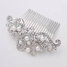 pearl hair comb bridal hair comb pearl wedding hair accessory