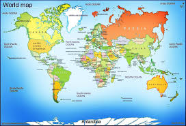 Google Map Of World by Global World Map Roundtripticket Me