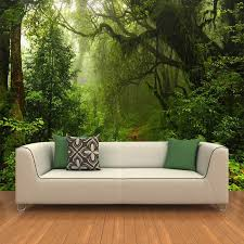 wholesale custom 3d primeval forest wall mural photo wallpaper
