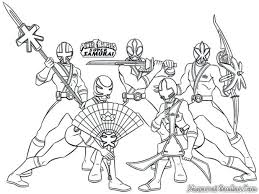 mighty morphin power rangers coloring pages samurai free