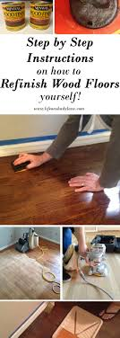 how to refinish hardwood floors yourself via on shady