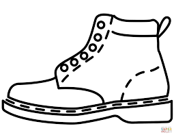 leather boot coloring page free printable coloring pages