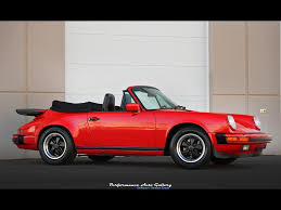 red porsche convertible 1987 porsche 911 carrera