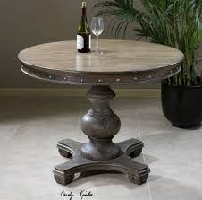 uttermost accent tables uttermost sylvana wood round table beyond stores