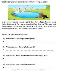 picture comprehension worksheets reading comprehension worksheet turtle diary