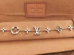 monogram bracelet gold louis vuitton 18k white gold monogram logo bracelet authentic