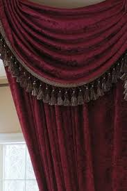 Burgundy Valances For Windows Louis Xvi Royal Red Classic Overlapping Style Chenille