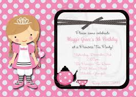 Princess Themed Invitation Card Princess Tea Party Invitations Marialonghi Com