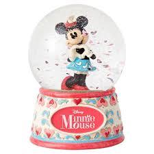 jim shore sweetheart minnie snow globe snow globes water