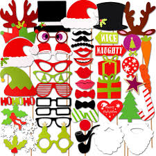 amazon com christmas photo booth props cooloo 50 pieces diy