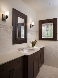 Dark Bathroom Cabinets Houzz - Dark wood bathroom cabinets