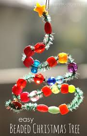 Easy Christmas Tree Decorations Bead And Pipe Cleaner Ornaments Happy Hooligans