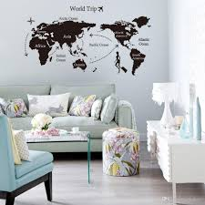 Door Decals For Home by 2015 Best Sales Travel World Map Shop Window Stickers Decorative