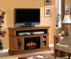 Fireplace Entertainment Stand by Rustic Electric Fireplaces I Portable Fireplace
