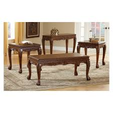 Carved Coffee Table Furniture Of America Winslow 3 Piece Coffee Table Set Dark